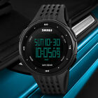 SKMEI Men Women Digital Quartz Sports Watches Waterproof Date Army Wristwatch US image