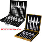 16/24/48x Steel Cutlery Set Kitchen Tableware Dining Spoon Fork Teaspoon Boxed