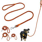 120cm Braided Leather Pet Dog Lead Soft Small Large Dogs Walking Leash Chihuahua