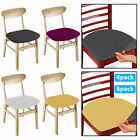 4/8pc Removable Elastic Stretch Slipcovers Dining Spandex Chair Seat Cover Decor