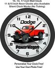 1968 Dodge Power Wagon Wall Clock-Choose 1 of 2 Colors