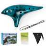 More images of Ceramic Ocarina 12 Hole Tones Alto C + Song Book Display Stand Neck String