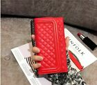 Wallet Folding Mirror Card Leather Cover Case Crossbody Chain Bag For iPhone