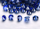 wholesale lot of Top ROUND CUT AAAAA BLUE SAPPHIRE 0.8mm to 3mm LOOSE GEM 50pcs