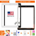 USA For iPad Air 1st A1474 A1475 iPad 5th Gen Touch Screen Digitizer Glass +Home