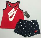 Girl's Youth Nike 4th of July Patriotic Tank Top Shorts 2 Piece Set Outfit