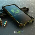 Phone Case Aluminum Metal Armor Shockproof Carbon Tempered Glass For iPhone