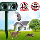 1/2/4 Ultrasonic Solar Dog Cat Rat Mice Repeller PIR Detection Animal Deterrent