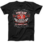 35th Birthday Vintage No 35 Born in 1986 Short Sleeve T-Shirt Gift