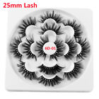 SKONHED 7 Pairs 8D  Mink Hair False Eyelashes 25mm Lash Thick Wispy Fluffy NEW