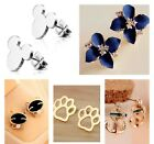 Stud Earring Cat Flower Disney Anchor Dog Luxury Jewellery Gift All Ages Uk