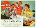 Vintage Advertising Poster - Coca Cola - It's a Family Affair (A4/A3 Poster) £8.8  on eBay