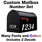 Custom Mailbox Numbers Set Vinyl Decals Custom Size And Colors / Address Numbers