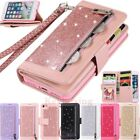 For Iphone Se 2020 6s 7 8 11 Pro Max Glitter Leather Card Slot Wallet Case Cover