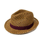 BANK HOLIDAY SALE! Paul Smith PS 2 Straw Trilby Hat Tan