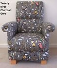 Chair Armchair Duck Egg Tweety Birds Fabric Adult Nursery Bedroom Green Nursing