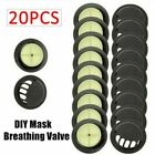 Mask Sports Face Reusable With Double Valve & Carbon Pad Filter 10PCS Activated