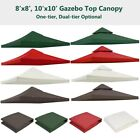 Gazebo Top Replacement Outdoor Garden Canopy Cover UV Sunshade 8x8 ft 10x10 ft