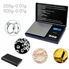 500g 0.01 Digital Pocket Scales Gold Jewellery Precision Electronic Scale Mg Lab