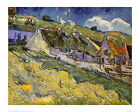 Thatched Cottages - Van Gogh - Fine Art Giclee Print Poster (Various Sizes)