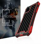 R-JUST Waterproof Shockproof Metal Carbon Fiber Case Cover For iPhone 11 PRO MAX