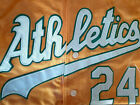 NEW Yellow Oakland Athletics #24 Rickey Henderson 2patch SEWN cooperstown Jersey on Ebay