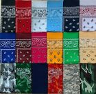 3 Pc Set Bandanas 100% Cotton Face Mask Headwear Neck Scarf Multi-Use Protection