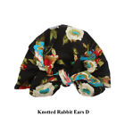 Soft Kids Toddler Knotted Rabbit Ears Cotton Beanies Warm Caps Baby Bowknot Hat