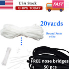 U.s 10-20 Yards 3mm Soft Elastic Band Cord Ear Hanging Sewing Crafts Diy Mask
