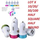 WHOLESALE LOT 10/20/50/100 DUAL Car Charger DOUBLE USB PORT for iPhone Samsung