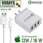 3,6,10ft USB Cable + 12W 18W 3-USB Cube Wall Charger For iPad 4th 5th Air [FLQ1