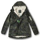 NWT Hollister by Abercrombie&Fitch Men's Sherpa Lined Military Parka Fur Jacket