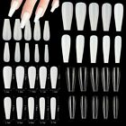 Kyпить 100/500Pc Long Ballerina Full Cover Artificial False Nail Tips-Natural/Clear на еВаy.соm