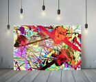 JACKSON+POLLOCK+26-FRAMED+CANVAS+ARTIST+WALL+ART+PAPER+PICTURE+PRINT-+RED+PURPLE
