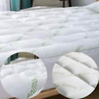 Extra Thick Mattress Topper Pad Cover Pillow Top Bamboo Cooling Ultra Soft image