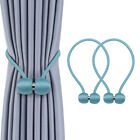 2pcs Curtain Tie Backs Magnetic Ball Buckle Holder Tieback Clips Home Window US