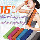 5 PCS Instant Cooling Towel ICE Cold Pad Golf Cycling Jogging Gym Sports Outdoor image