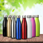 500ml Stainless Steel Double Wall Vacuum Insulated Bottle Water Flask Sport Bp