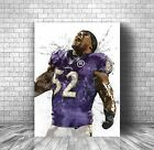 Ray Lewis Poster, Baltimore Ravens -  Canvas Print $44.99 USD on eBay