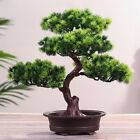 Artificial Fake Green Bonsai Plant Guest Greeting Pine Tree Wedding Office Decor