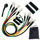 11 pc Resistance Bands Set Pull up Gym Home Fitness Booty Workout Yoga Tube USA  image