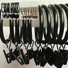10pcs Multipurpose Curtain Hooks Stainless Steel Shower Curtain Rings Clips Aq