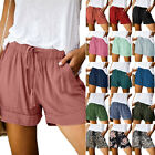 Plus Size Women Summer Shorts Elastic Waisted Casual Baggy Short Trousers Pants