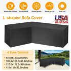 Patio Sectional Furniture Cover L-shape Sofa Couch Dust Cover Garden Waterproof