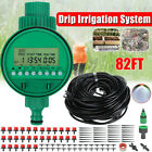 49.2/82ft Diy Micro Drip Irrigation Timer Self Plant Watering Garden Hose System