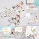 Shape Paper Clamp Clamps Stand Place Card Table Numbers Holder Photos Clips