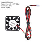 1Pcs 40 * 40 * 10mm DC 12V Brushless Cooler Cooling Fan 2 Wire for 3D S6W6