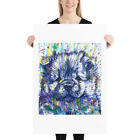 CHOW CHOW watercolor & ink portrait - POSTER - various sizes! art puppy cub dog