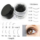 Wholesale 1 Pot Black Individual False Eyelash Extension Eye Lashes Eye Makeup