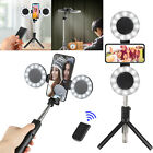 Bluetooth Selfie Stick + LED Ring Lights Remote Extendable Monopod Tripod Stand